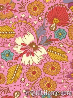 Folk Song PWAH089-Berry Fabric by Anna Maria Horner