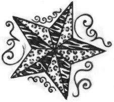 paw print tattoo sketch photo: Animal print nautical star march1009.jpg