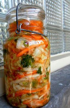 Kimchi in Weck Jar