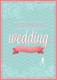 Printable Wedding Checklist & Timeline with 430 Tasks -- Chosen by SheKnows.com as a Favorite Wedding Tool -- DOWNLOAD. $2.95, via Etsy.