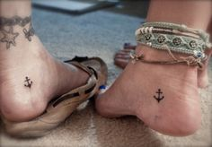 Tiny tats on the inner foot or ankle - I love this.  Except I'd do it with the McSweeney's chair.
