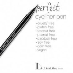 5 LimeLife Cosmetic Products I LOVE! - My Beauty For YouThis professional, precise, liquid eyeliner pen has a fiber brush tip applicator to achieve liner that is bold and thick or thin and detailed using a smudge-proof formula that lasts.FREE Shipping with $58 order.. Perfect Mascara, #Eyeliner, #LimeLife, #Makeup, #Cosmetics, #ProfessionalMakeup, #Mascara, #EyeMakeup. #BestEyeliner How To Do Eyeliner, Winged Eyeliner Tutorial, Simple Eyeliner, Perfect Eyeliner, Best Eyeliner, Eyeliner Pen, Winged Liner, Eyeliner Shapes, Eyeshadow For Green Eyes
