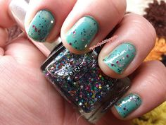 Orly Green with Envy & Pure Ice It's Complicated by My nail polish is poppin, via Flickr