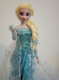 Elsa, the Snow Queen One of a kind handmade doll, Disney Frozen
