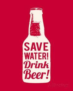 Save Water Drink Beer Pôsters na AllPosters.com.br