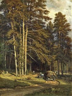 Ivan Shishkin – private collection. Forest Road
