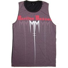 Marilyn Manson TShirts T-Shirt T Shirt Punk Rock Muscle Tank Tops... ($17) ❤ liked on Polyvore featuring tops