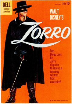 Zorro debuted in Johnston McCulley's 1919 story The Curse of Capistrano, serialized in five parts in the pulp magazine All-Story Weekly. Zorro began. Vintage Comic Books, Vintage Comics, Tarzan, A Mascara Do Zorro, The Legend Of Zorro, Alex Toth, Western Comics, War Comics, Tv Westerns