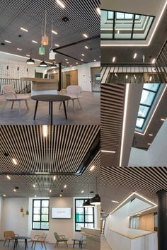 Bring nature inside with our Solid Wood grill ceilings. For metal and concrete buildings a natural material compliments the environment. The freedom in slat size and gap provides flexibility in budget and design. Wood Grill, Concrete Building, Wood Ceilings, Flexibility, Compliments, Solid Wood, Tiles, Gap, Buildings