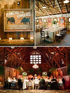 California Rustic Barn Wedding | Style Me Pretty-  Santa Lucia Preserve, Carmel