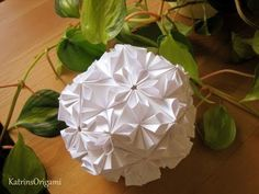 How to make an Origami Cherry Blossom Ball - YouTube