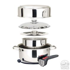 Magma Stainless Steel Nesting RV Cookware, 7 Pc - Magma Products A10-362 - Cooking Equipment - Camping World