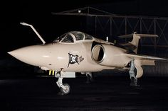 Blackburn Buccaneer S.2B (XX901) retired to the Yorkshire Air Museum. In 1991 it flew 14 operational missions during Gulf War I when it was painted in its current pink sand scheme and 'Flying Mermaid' and 'Sky Pirates' nose art.