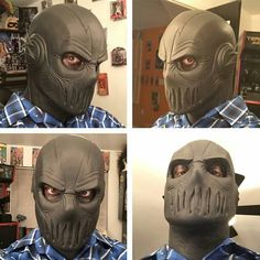 Badass foam latex Zoom cowl created by Jester FX check out the rest of his work…