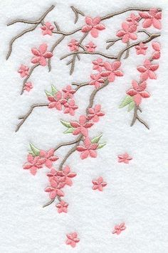 Japanese Embroidery Flowers Machine Embroidery Designs at Embroidery Library! Learn Embroidery, Hand Embroidery Stitches, Machine Embroidery Patterns, Silk Ribbon Embroidery, Crewel Embroidery, Hand Embroidery Designs, Embroidery Techniques, Embroidery Ideas, Brow Embroidery