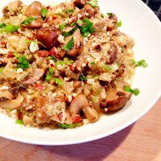 Healthy Living in Heels: Quinoa Risotto met Champignons.