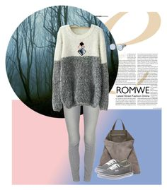 """Romwe 17"" by sarahguo ❤ liked on Polyvore featuring Paige Denim, TSATSAS, Vans and Skagen"