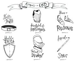 Woman in Armor of God. I used this as a visual aid when I