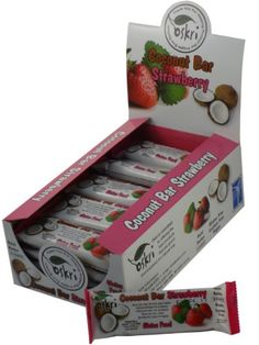 Oskri Coconut Bar with Strawberry, Gluten Free, 1.9-Ounce Bars (Pack of 20) « FourSeasonsGlutenFree.com