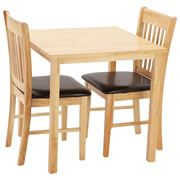 Kendall Dining Table And 2 Upholstered Chairs  Cream69 X 69 X Magnificent Kendall Dining Room Inspiration