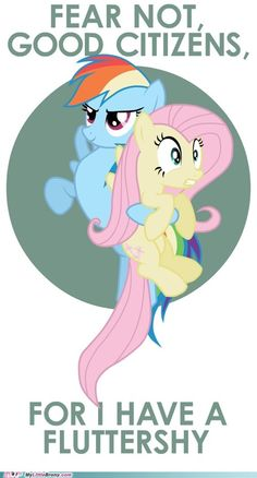 """For I have a Fluttershy"" says Rainbow Dash 
