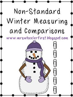 Mrs. Wheeler's First Grade Tidbits: Non-Standard Measurement & Freebie
