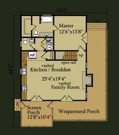 Petit Soleil Floor Plan   Homes   Pinterest   Floor Plans  Floors    Little River Cabin   Little River House Plan   Floor Plan Design