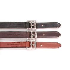 Silver Fox Childrens English Schooling Stirrup Leathers Black - 24-810-2-0