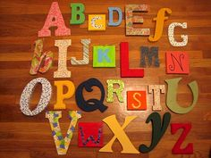Mod Podge letters from A to Z