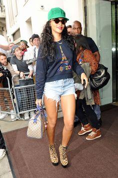 29814a99c2dea Rihanna  Style File. Kenzo CapLeopard BootsNew Era ...