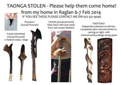 Plz help return these taonga home