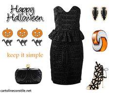 e card black dress halloween