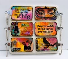 Mixed Media Mini Message Boards Workshop with Marjie Kemper - Nashville, Indiana - July 2015