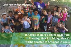Zee Bee Market donates to ArtScope, a nonprofit that promotes the arts in children in St Louis