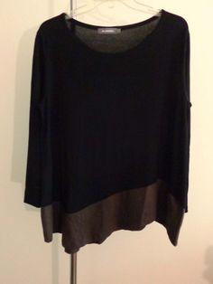 Alembika blouse lagenlook top black artsy art to wear artist upscale sz 2 #Alembika #Blouse #EveningOccasion
