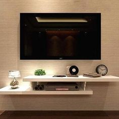 Bedroom Tv Wall, Home Decor Bedroom, Tv Stand In Bedroom, Tv Cabinet For Bedroom, Wall Cabinets Living Room, Mounted Tv Decor, Wall Mounted Tv Unit, Mounting Tv On Wall, Wall Units