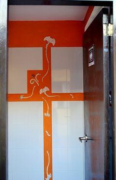 "Detalle baño ""Mar Naranja"""