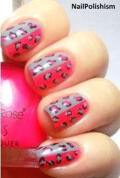 #pink and grey #pink and gray #nails #nail_art #nail_polish