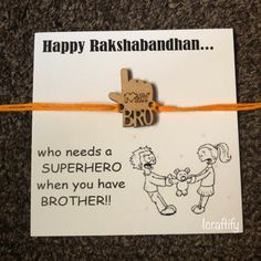 Celebrate this eternal bond of love with hand-picked collection of designer rakhi and rakhi gift hampers online. Send Rakhi to USA, UK, Australia & world Happy Birthday Brother, Cute Birthday Gift, Diy Rakhi Cards, Diwali Card Making, Rakhi Message, Rakhi To Usa, Rakhi Wishes, Rakhi Greetings, Happy Raksha Bandhan Images