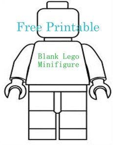 Free Printable Blank Lego minifigure, fun craft for kids.