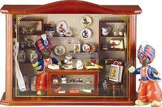 Sarotti Candy Shop w Porcelain Miniatures Room Box by Reutter Porcelain Shadow Box:Amazon:Home & Kitchen
