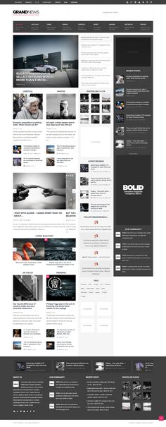 Another simple and rectangular design that deals with content boxes and text that contrast the white background.