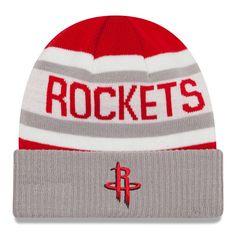 f77777e05df Houston Rockets New Era Current Logo Biggest Fan 2.0 Cuffed Knit Hat - Red