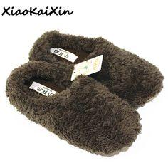 US  10.81  XiaoKaiXin Winter Warm Home Shoes Woman Plush Solid Indoor  home   indoor  plush  shoes  solid  warm  winter  woman  xiaokaixin 7639111944a5