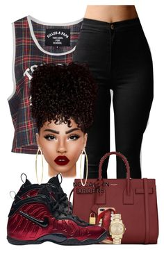 """Super Rich Kid"" by chiamaka-ikaraoha ❤ liked on Polyvore featuring Filles à papa, NIKE, Yves Saint Laurent, Lime Crime, Brooks Brothers and Burberry"