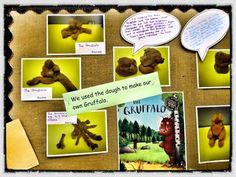 Fantastic 'scrapbook' style of displays - using children as guide, speech bubbles etc.