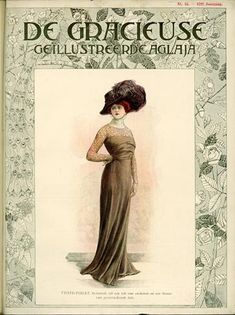 De Gracieuse August 1909, Edwardian Fashion Plate