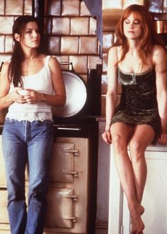 """Sandra Bullock and Nicole Kidman portray the characters of Sally and Gilly respectively  in the movie """"Practical Magic""""......"""