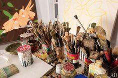 Tools of the Trade. Artist Alex Katz's studio