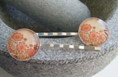 FLOWER MEADOW silverplated bobby pin hair slides £4.00